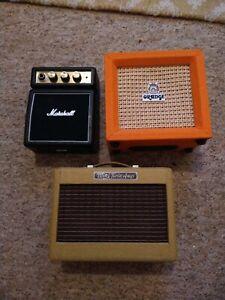 Marshall MS2, Orange Micro Crush, Fender Mini Twin Amp Guitar Amps