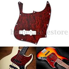 Red 3 Ply Jazz J Bass Guitar Pickguard Standard Scratch Plate Tortoise Shell