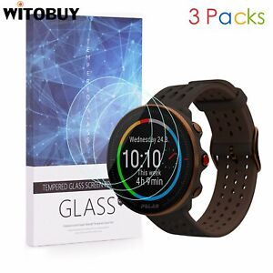 For Polar Vantage M2 9H Hardness Tempered Glass Screen Protector 3 Packs