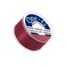 Toho One-G 0.2mm Nylon Japanese Beading Thread Red 50 Yard Spool (Q108/6)