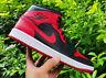 "Nike Air Jordan 1 Mid ""Bred"" 2020 Size UK6 US7 EU40 Black Red AJ1 Banned"