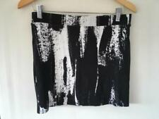 Free Post Womens NWOT Divided By H & M Black & White Skirt Size S