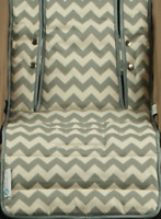 Keep Me Cosy™ Pram Liner & Pram Accessories, Universal, Cotton – Grey Chevron