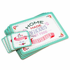 Set of 4 Placemats & Coasters Retro Home Diner Cafe Dinner Table Setting Mats