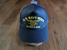 U.S NAVY SEALS FORCE OF CHOICE HAT OFFICIAL MILITARY BALL CAP USA MADE