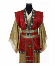 Chinese Man Han Clothes Red Emperor Prince Show Cosplay Suit Robe Costume
