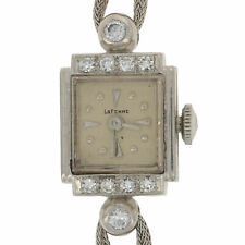 Vintage LaFemme Ladies Diamond Watch - Platinum & 14k Gold Quartz 2Yr. Wnty