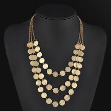 Women Fashion Charm Jewelry Chain Pendant Choker Chunky Statement Bib Necklace