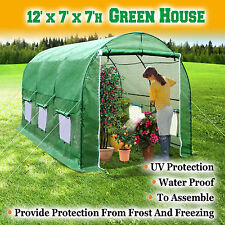 New 12'X7'X7' Large Hot Green House Walk-In Greenhouse Plant Gardening Outdoor