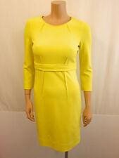 450€ NEU LUISA CERANO Designer Stretch Kleid Gr.36 USA6 Dress 3/4 Arm Gelb