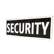 SECURITY Big XL 10x4 inch embroidered badge bulletproof tag patch VELCRO® brand
