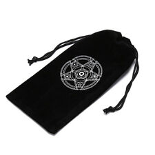 1pc velvet tarot card storage bag six-pointed star pattern board game cardFBG$