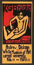Ernst Ludwig Kirchner Woodcut Poster KG BRUCKE For Cornell Art Museum 1970