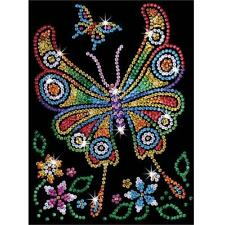 Sequin Art Junior Butterfly Craft Kit 1209 FREE POSTAGE