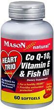 Mason Natural Heart Trio Co Q-10, Vitamin E and Fish Oil 60 Soft Gels (6 pack)