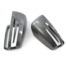 Pair Mirror Cover Cap Carbon Fiber Print For Mercedes Benz W212 W204 W221 09-13