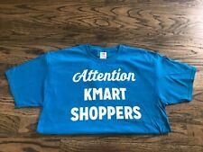 "Attention KMART SHOPPERS T-Shirt Employee (Blue) ""Zombie Apocalypse Shop"" LARGE"