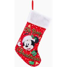 Disney Mickey Mouse Christmas Plush Stocking - Red