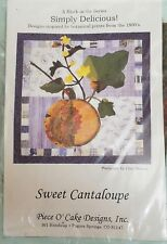 SWEET CANTALOUPE - Simply Delicious Piece O' Cake designs QUILT BLOCK KIT
