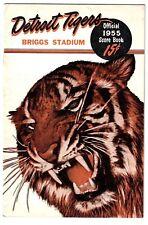 1955 Detroit Tigers Home Program vs. Chicago - Al Kaline Home Run!