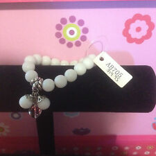 ALISSA  WHITE AND CLEAR STRETCH BRACLET BNWT FREE POSTAGE (L)