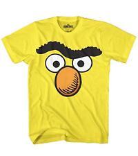 Bert Ernie Big Bird Face Tee Fun Sesame Street Humor Adult Mens Graphic T-Shirt
