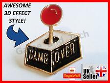 Atari GAME OVER Pin Badge Brooch - Atari 2600 SNES Pac Mario Zelda Retro Gamer