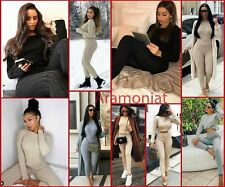 Womens Ladies Cable Knitted Baggy 2 Pieces Lounge Wear Casual Set Suit Tracksuit