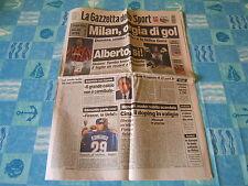 LA GAZZETTA DELLO SPORT=9/1/1998 coppa italia Milan-Inter 5-0