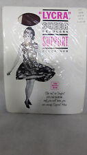 Taupe brown vintage support stockings  size b 9.5 - 10 lycra spandex nylon new