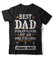 Customizable Father's Day T-shirt Best Dad ever Custom Kids Name Shirt