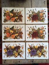 VINTAGE Retro Pimpernel Place Mats Table Floral Mats Set Of 6 Boxed