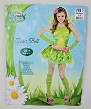 Disney Fairies Tinker Bell Ladies Juniors Halloween Fantasy Costume Sz M 7-9 New