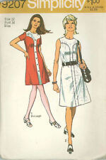 Vintage Misses' Dress in Two Lengths Sewing Pattern S9207 Size 12