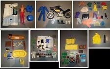 gros lot accessoires BIG JIM an 70 : Steve Austin, moto, repair station, fishing