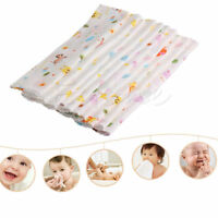 10Pcs NewBorn Gauze Muslin Square 100% Cotton Bath Wash Baby Towel Handkerchief