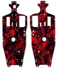 Traxxas Jato - Chassis Plate Protector Kit - Red Flames