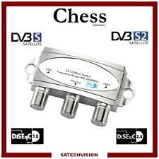 Commutateur DiSEqC 2/1 Chess 2 Entrées satellites 1 sortie Récepteur HD 3d 4k