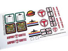 CUSTOM DIE CUT STICKERS for Lego 6399 AIRPORT SHUTTLE CUSTOM BUILDS
