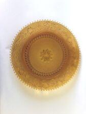 """Tiara Glass SANDWICH AMBER 10 3/8"""" Dinner Plate"""