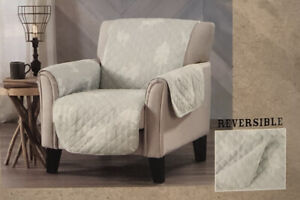 """Grand River Furniture Protector Armchair 75""""x 65"""" Gray Reversible"""