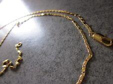 Girocollo oro 18kt collana tradizionale maglia piena piatta gold necklace 18k