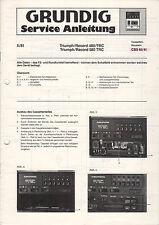 Grundig Service Anleitung Manual Triumph/Record 480 TRC 580 TRC CBS 40/41  B868