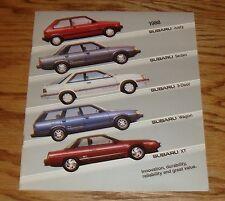 Original 1988 Subaru Full Line Sales Brochure 88 XT Justy Coupe Sedan Wagon