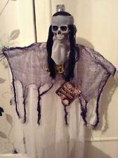 Fiesta De Halloween PROPULSOR animado pirata esqueleto Cabezal Móvil Sonidos Y Luces! nuevo!