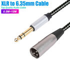 """Balanced Male XLR to TRS 1/4"""" 6.35mm Microphone Stereo Jack Cable Lead AU"""