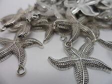 30 x Nouveau étoile de mer Charms, Perles ~ 26x23mm ~ Tibetan Silver ~ Artisanat Hobby