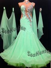 Ballroom Bright Green Cocktail Standard Waltz tango Prom US 4 Dance Dress #B2840
