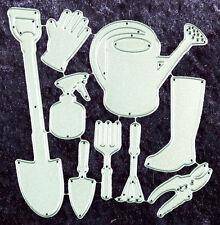 All Occasion Dies - Garden Tools Set of 9 Metal Dies - Robert Addams - 23