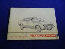 Libretto uso e manutenzione Alfa Romeo Giulietta